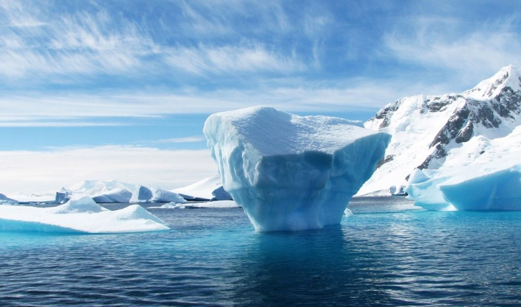 Greenland and Antarctic ice
